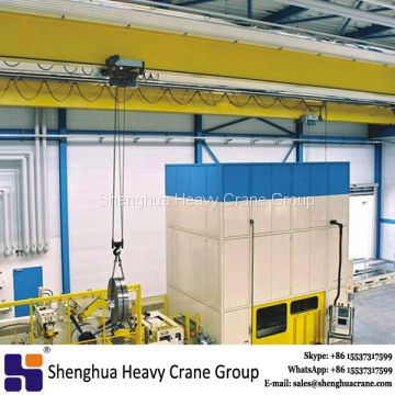 Europe style single beam electric hoist 5 ton overhead bridge crane