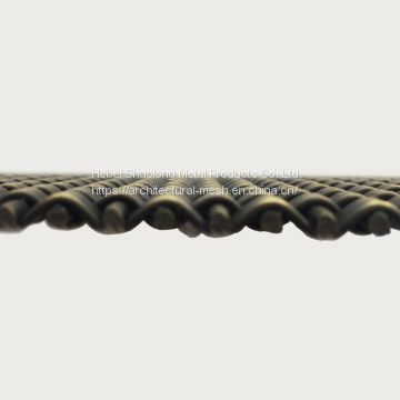 XY-1405G Woven Metal Antique Brass Finished