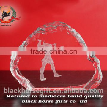 high quality mountain crystal trophy and award