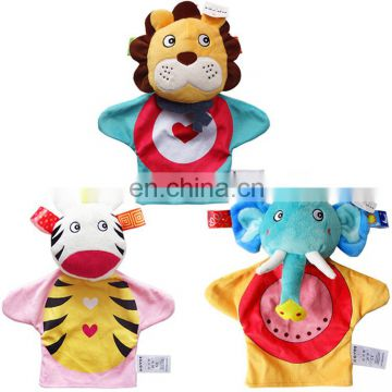 Baby soft toy plush animal fancy OEM CE hand puppet gift