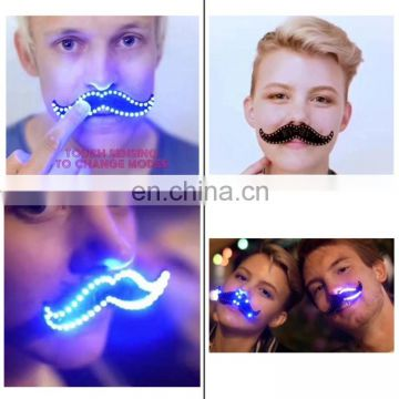 Christmas Decoration Gifts Cool Nightlight, LED Luminous Hairy Mustache Shape Light Up Night Light Flashing Cool