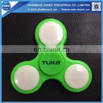 Promotional custom led hand spinner with logo