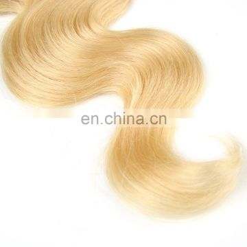 The best Color#613 Body Wave peruvian soft silky hair extension