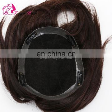 High Quality 100% Indian Hair Cheap Toupee for Men Hair Loss Solution