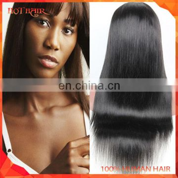 7A Brazilian Full lace human hair wigs for black women Glueless full lace wigs virgin hair straight human hair