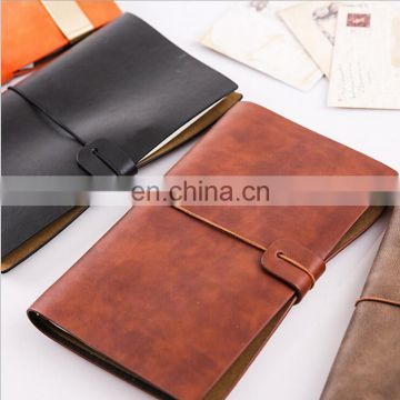 Creative A6 Leather Travel Notebook Refillable Paper Journal Notepad
