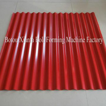 Quality Assured Colored Single Deck Corrugated Roof Board Construction Machinery