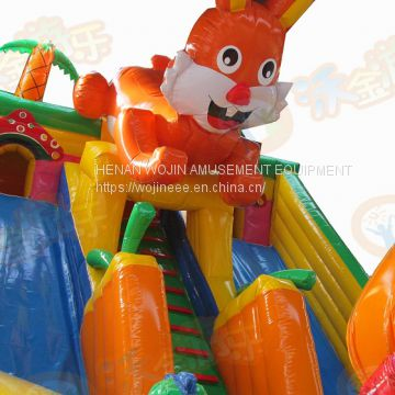 Fun Inflatable above ground castle Jumping house for Rentals wholesalers