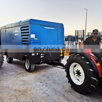 Moving convenient oil free pump euromatic air compressor for irrigation