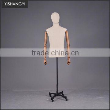 Fashion Mark Tailor Quality Male Plus Size Dress Forms Black