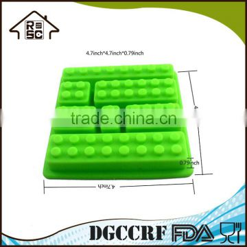 Silicone Ice Mold Silicone Building Bricks Style Rectangle Shaped Building Blocks Ice Tray
