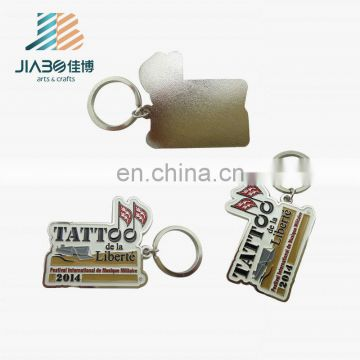custom painted metal keychain for international military music festival