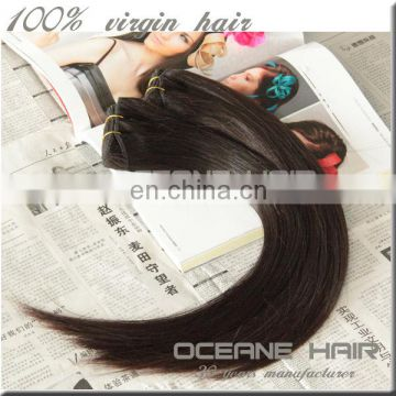 100% full cuticle hair weft double drawn layer 24 inch human hair weave extension