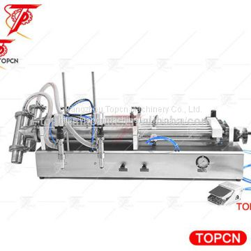 Two Heads Liquid Filling Machine, Semi Automatic Liquid Filling Machine For Paste Material