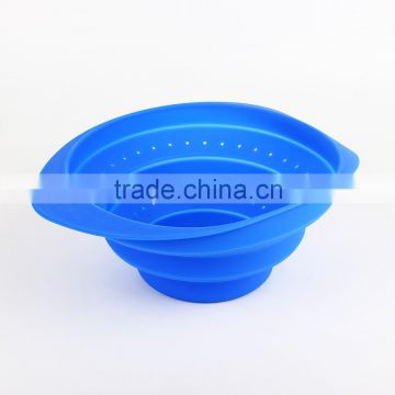 silicone collapsible colanders foldable silicone food strainer or steamer