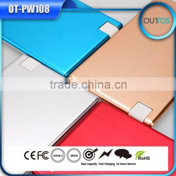 2015 high quality credit card portable power bank with card reader function