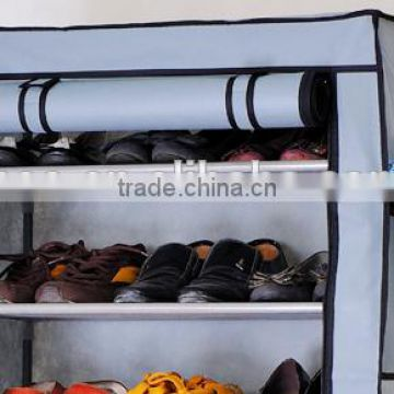 Hot selling Sliding Door Fabric Shoe Rack Cabinet With Side Pocket                                                                         Quality Choice