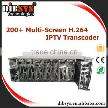 32group of IPtv Streaming simultaneous 1080P,720P,480P profiles Video transcoder Multi-Screen OTT iptv streaming server