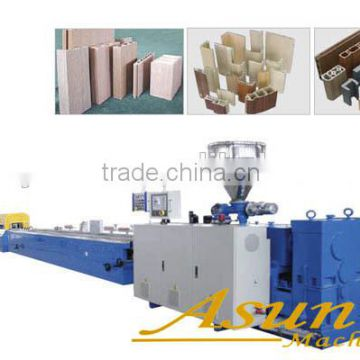 PVC Wood door production line/making machine/extruder in jiaozhou