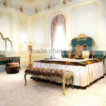 Latest Peacock Green Kingu0027s Bedroom Set Furniture/ Luxury Double Bed Design  Antique Bedroom Furniture With ...