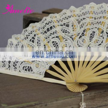 A-Fan057-27 Beige/Cream/Off white cotton fan lace