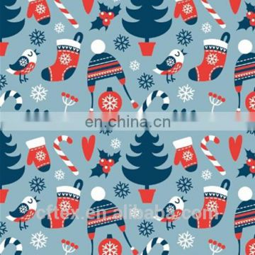 happy new year designs 100 cotton fabric material for Usa New year