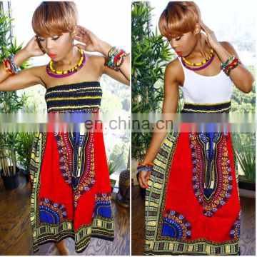 Sexy Women Traditional African Dashiki Skirt Print Maxi Party Print Dress Women Dress Ethnic wholesale