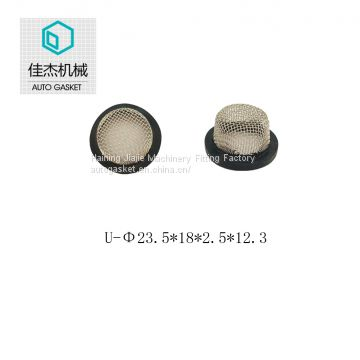 rubber&plastic wrapping filter mesh gasket on water cleaning machine