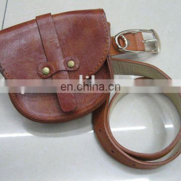 fashion PU belt with bag