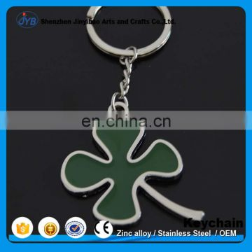 Wholesale Custom Metal Four Leaf Clover Key chain for hotel