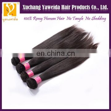 8-40 inch full cuticle Xuchang hair silky straight natural color remy hair weaving