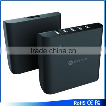 New arrival 5 Port Wall to USB Travel AC Power Adapter Charger with Power Cord fo Android Phones and Tablets