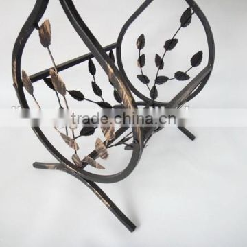 Metal Leaf Design magazine coffee table square tea table