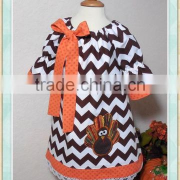 a4971fededceb girls turkey dress thanksgiving wholesale boutique kids clothes turkey  design frock chevron bowknot dress with lace bottom kids of Thanksgiving  day clothes ...