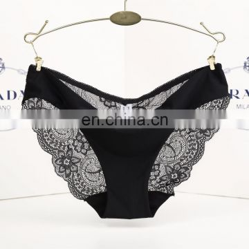Women's Sexy lace panties seamless cotton breathable panty Hollow briefs Plus Size underwear