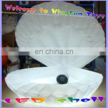 Hot sales led inflatable shell/inflatable led flower