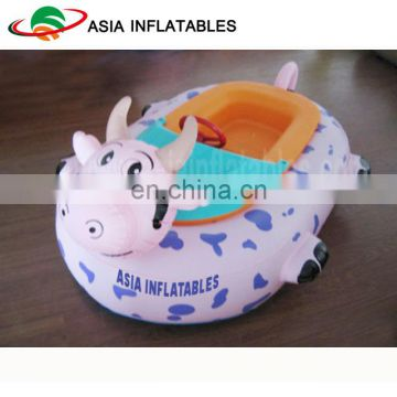 Children Amusement Park Inflatable Electric Bumper Boat / Water Park Equipment Dairy Cows Power Paddler Boat