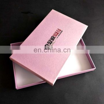 custom size and logo ribbon cardboard paper gift box