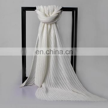Women Ruched Detail Semi Sheer Soft Simple Casual Scarf