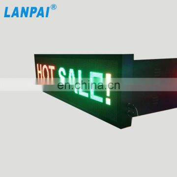High brightness full color hd video display programmable P10 led sign