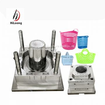 plastic laundry basket mold for injection machine