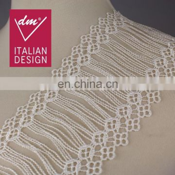 Charming white swiss embroidery lace