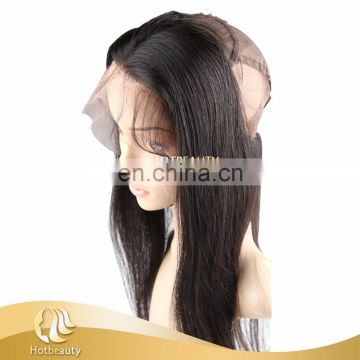 New arrival hot selling 360 lace frontal with cap elastic band inside Brazilian virgin hair