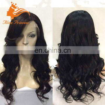 Malaysian Human Hair Side Part Lace Front Wig With Adjustable Wig Cap Remy Human Hair Party Wig