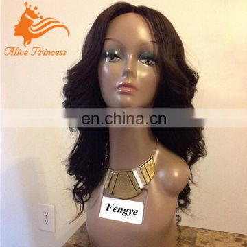 Glueless Silk Top Full Lace Wig Natural Color Body Wave Brazilian Virign Hair Wig With Baby Hair 10inc TO 28inch In Stock
