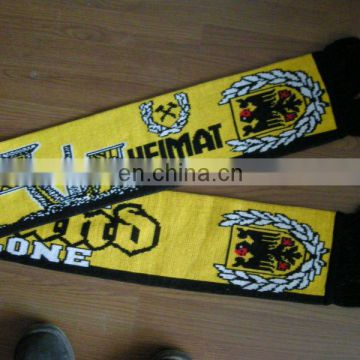 knitted fans scarf