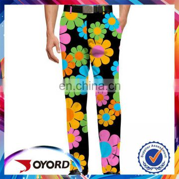High quality comfortable golf pants fabrics for wholesale