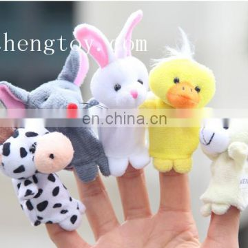 Fashion lovely soft plush animal funny finger puppet