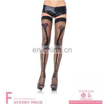 Custom fancy christmas stockings white stockings thigh high