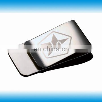 Metal cash clip with custom logo design for promotion